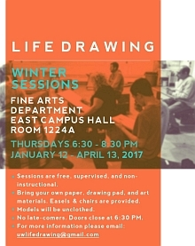 Poster for life drawing sessions
