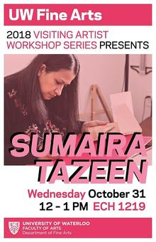 Poster for Sumaira Tazeen artist talk