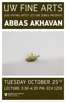 Poster for Abbas Akhavan talk