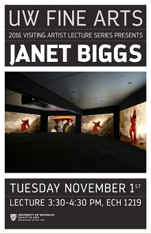 Poster for Janet Biggs talk