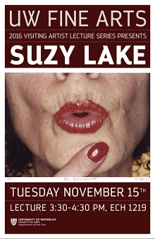 Poster for Suzy Lake talk