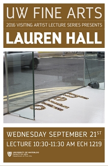 Poster for Lauren Hall talk