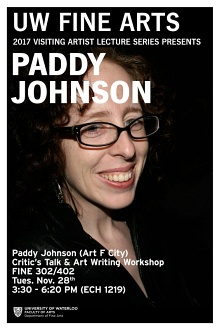 Paddy Johnson talk and workshop