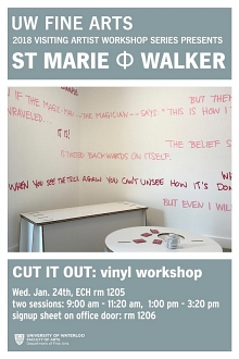 Poster for vinyl workshop.