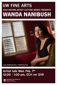 Poster for Wanda Nanibush curator's talk