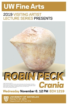 Poster for Robin Peck talk