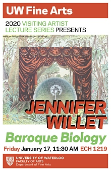 Poster for Jennifer Willet's artist talk.