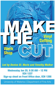 Poster for vinyl cutting workshop