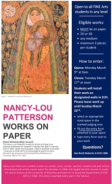 2020 Nancy-Lou Patterson Works on Paper poster
