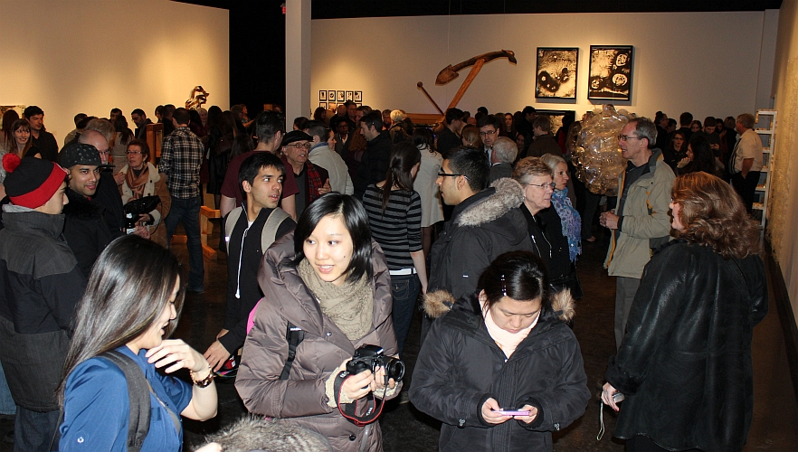 Opening reception of 2013 fourth year show