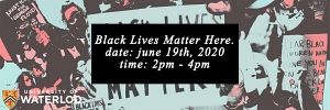 Black Lives Matter Here banner