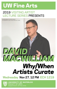 Poster for David MacWilliam's talk