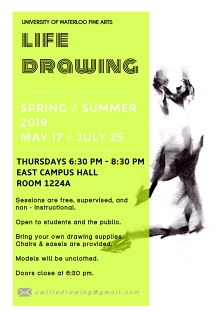 Life drawing poster for spring summer 2019