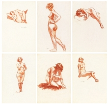 Life drawings by Edward Hopper