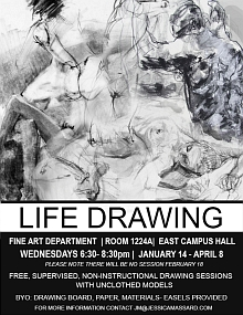 Evening life drawing sessions for winter 2015