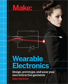 Make wearable electronics book cover