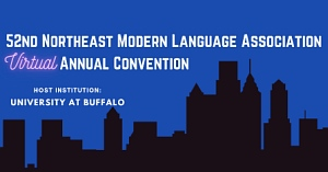Logo for 52nd Northeast Modern Language Association virtual conference