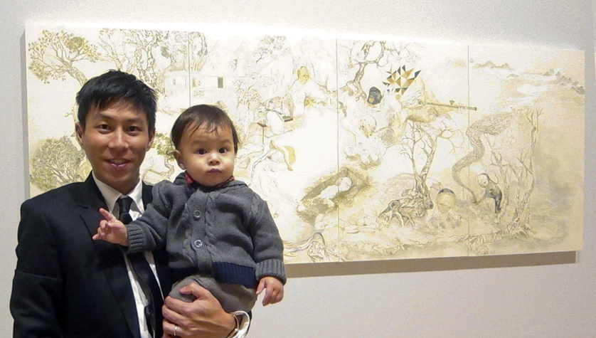 Howie Tsui at the exhibition