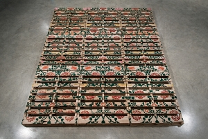 Soheila K. Esfahani, Cultured Pallets: Windsor, 2017. Acrylic on wooden shipping pallets. Courtesy of the artist. Photo: Frank P