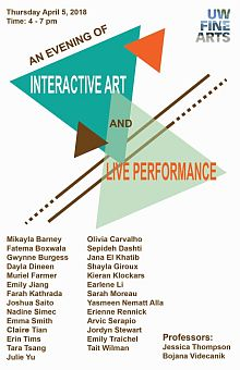 Poster for interactive art and performance exhibition