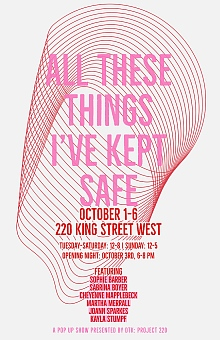 "Poster for ""All These Things I've Kept Safe"" exhibition"