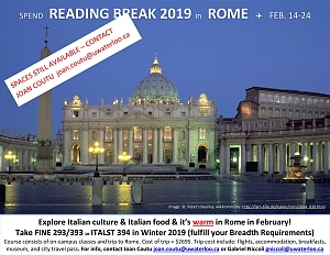 Poster for Rome 2019 trip