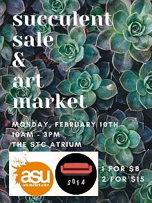 Succulent sale and art market poster
