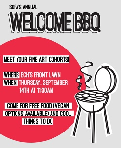 SoFA welcome BBQ poster