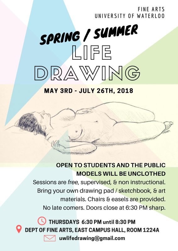Life drawing session | Fine Arts | University of Waterloo