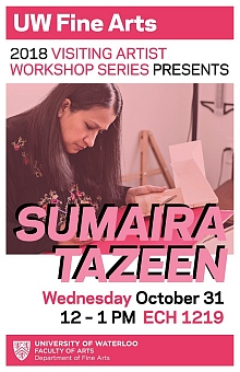 Poster for Samaira Tazeen artist talk