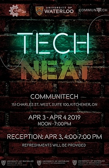 techNEAT exhibition poster