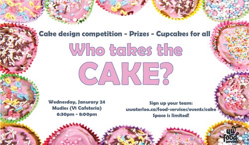 Who takes the cake. Wednesday, January 24