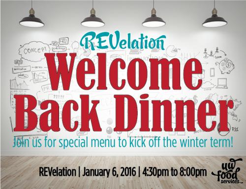 REVelation welcome back dinner