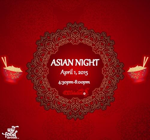 asian theme night uw food services university of waterloo