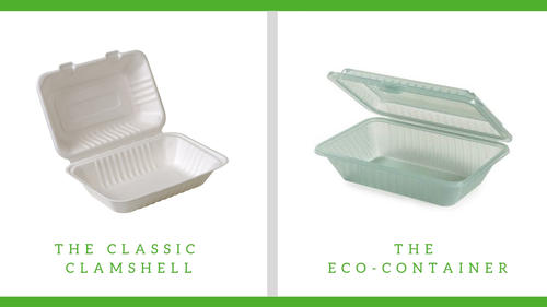 Classic clamshell and eco-container