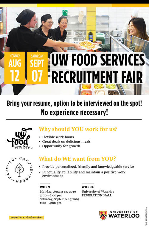 UW Food Services Fair Poster