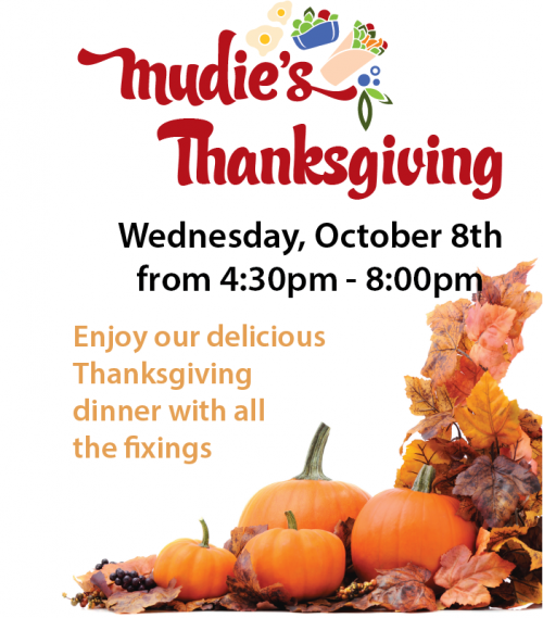30pm. Enjoy our delicious Thanksgiving dinner with all the fixings.