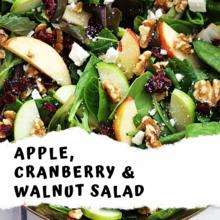 Apple Cranberry and Walnut Salad