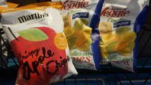 Apple Martin's Chips on shelf