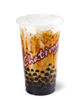 Chatime cup with milk tea, brown sugar and tapioca pearls