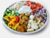 Halloumi and falafel bowl image