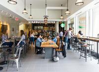 Inside Starbucks STC location