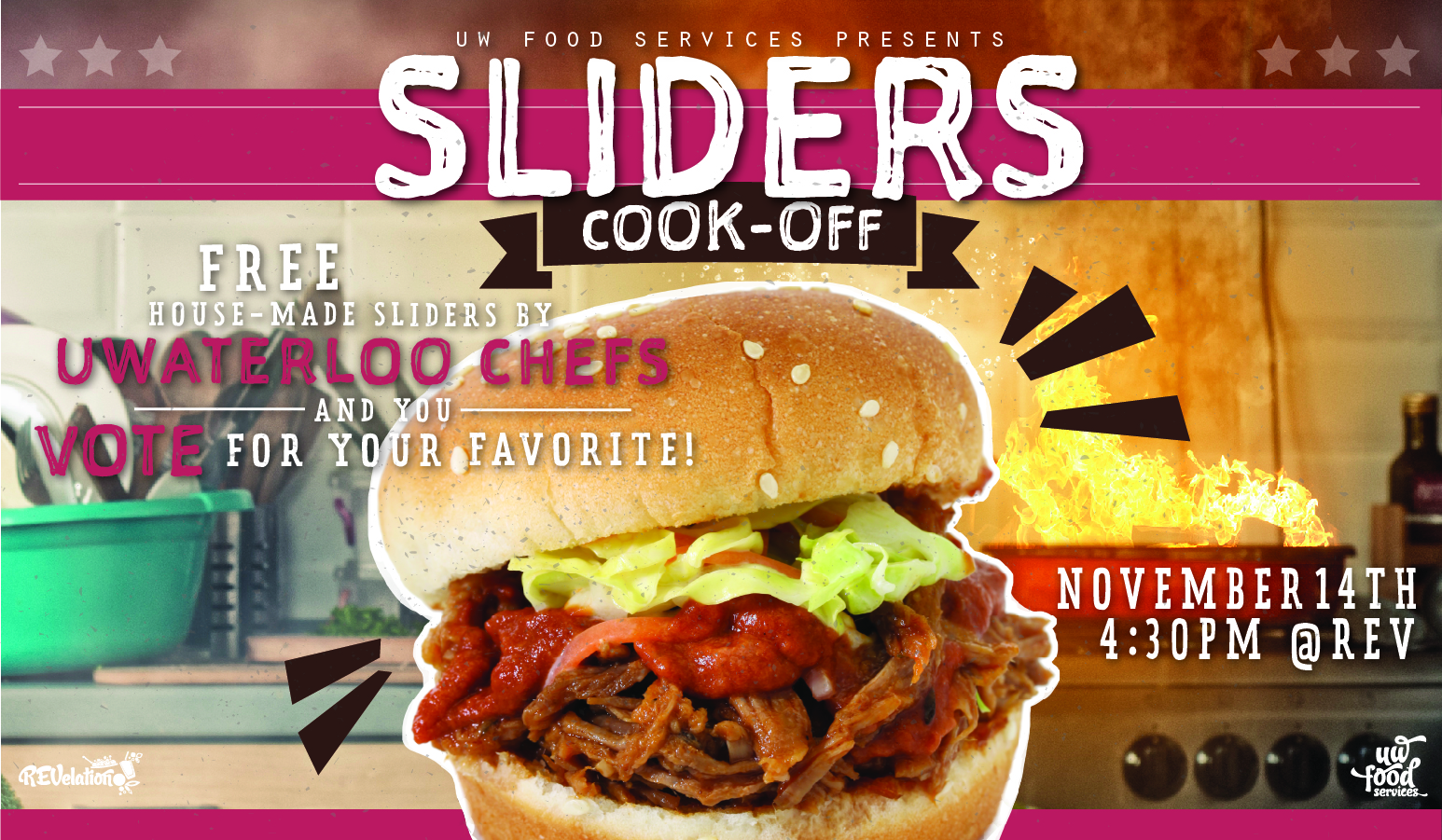 Sliders cook-off poster