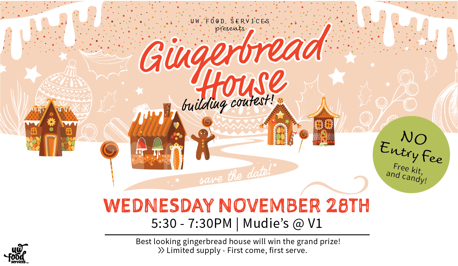 Gingerbread house event poster