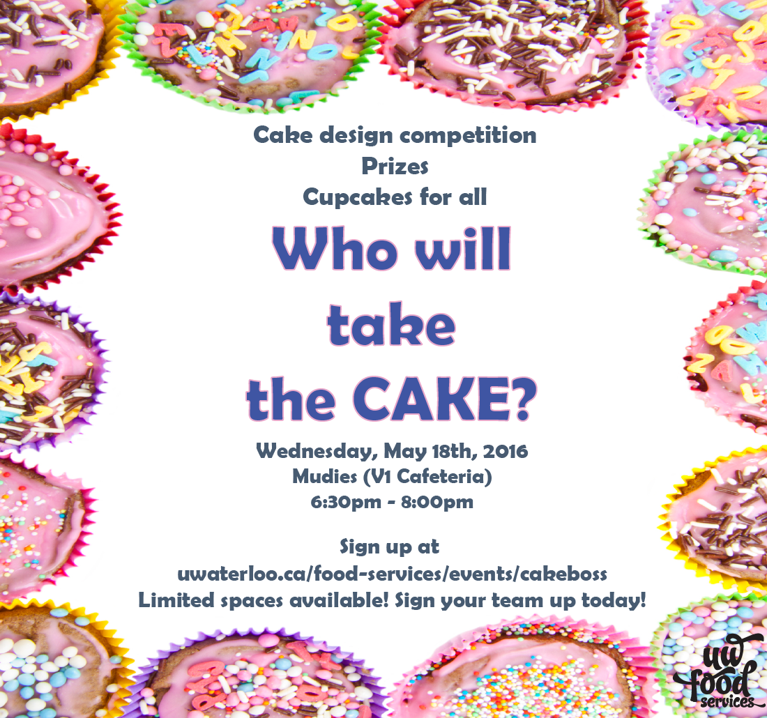 Who will take the Cake? May 18th at 6:30pm