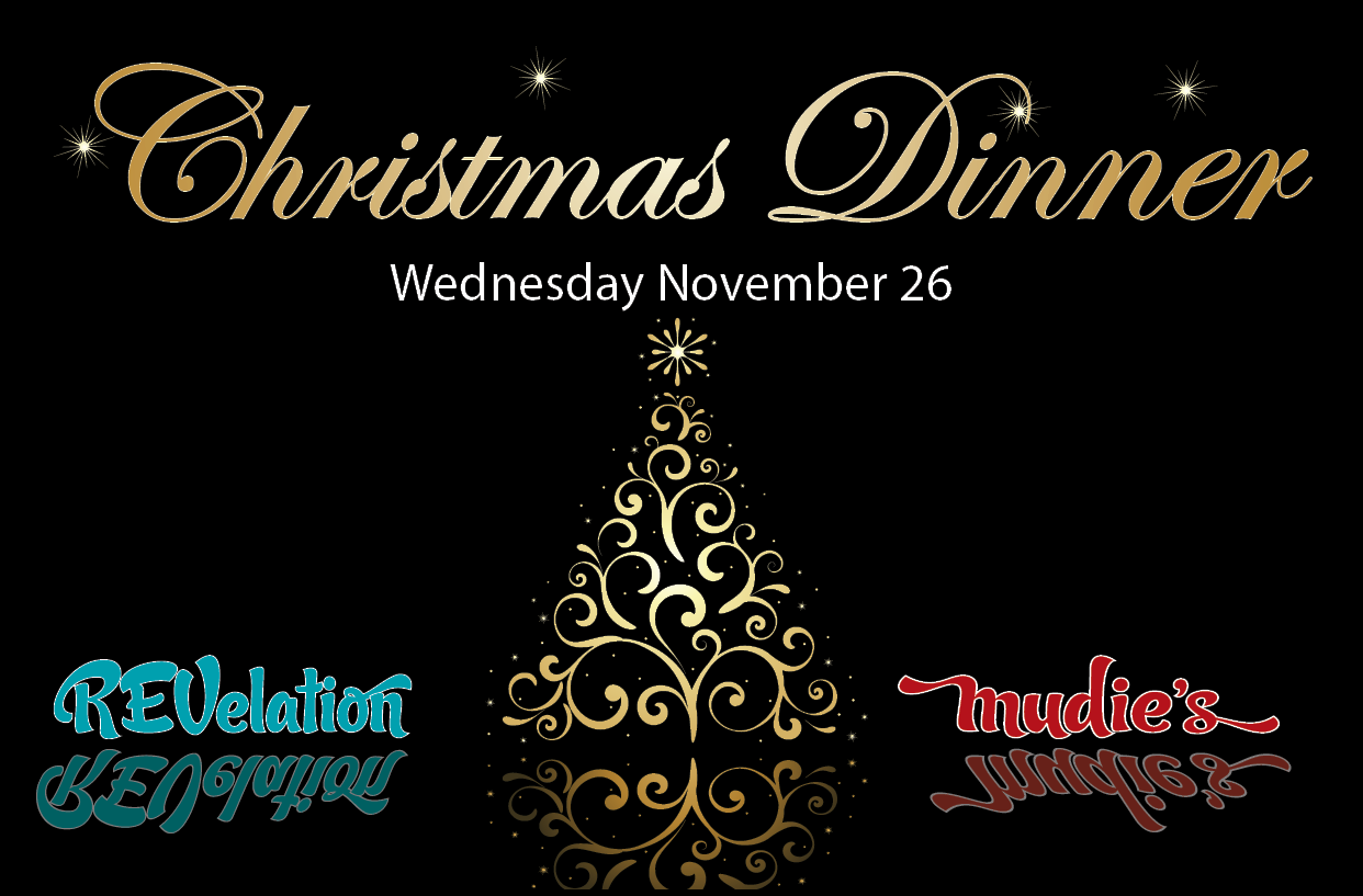 Christmas Dinner in REV and Mudies poster