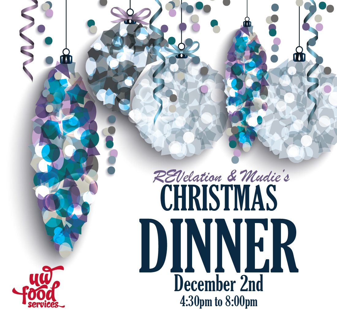 Revelation and Mudies Christmas Dinner November 2nd 4:30-8:00