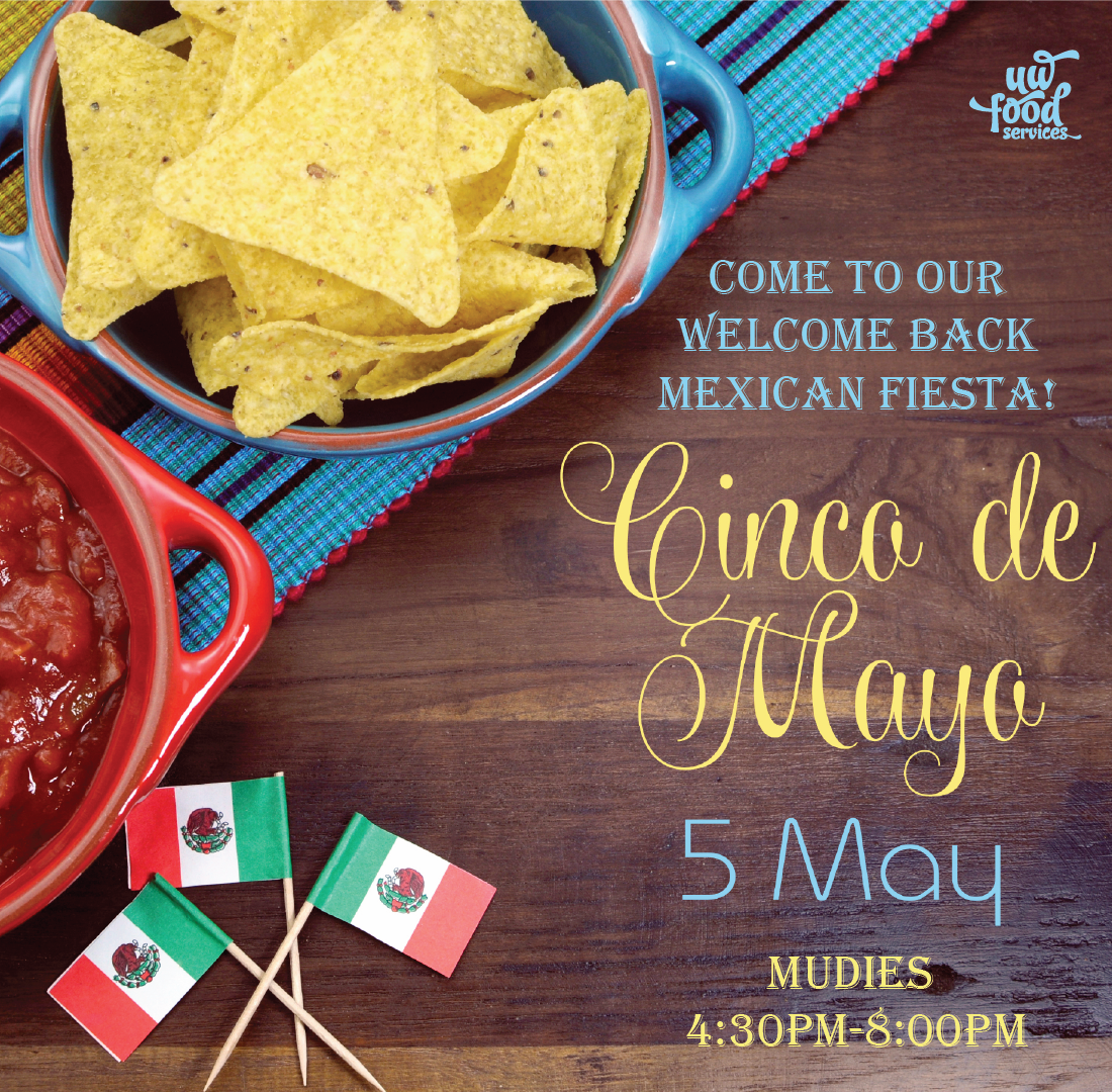 Cinco de mayo at Mudies 4:30pm-8:00pm