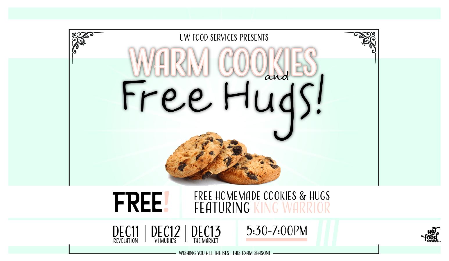 Free cookies & hugs poster