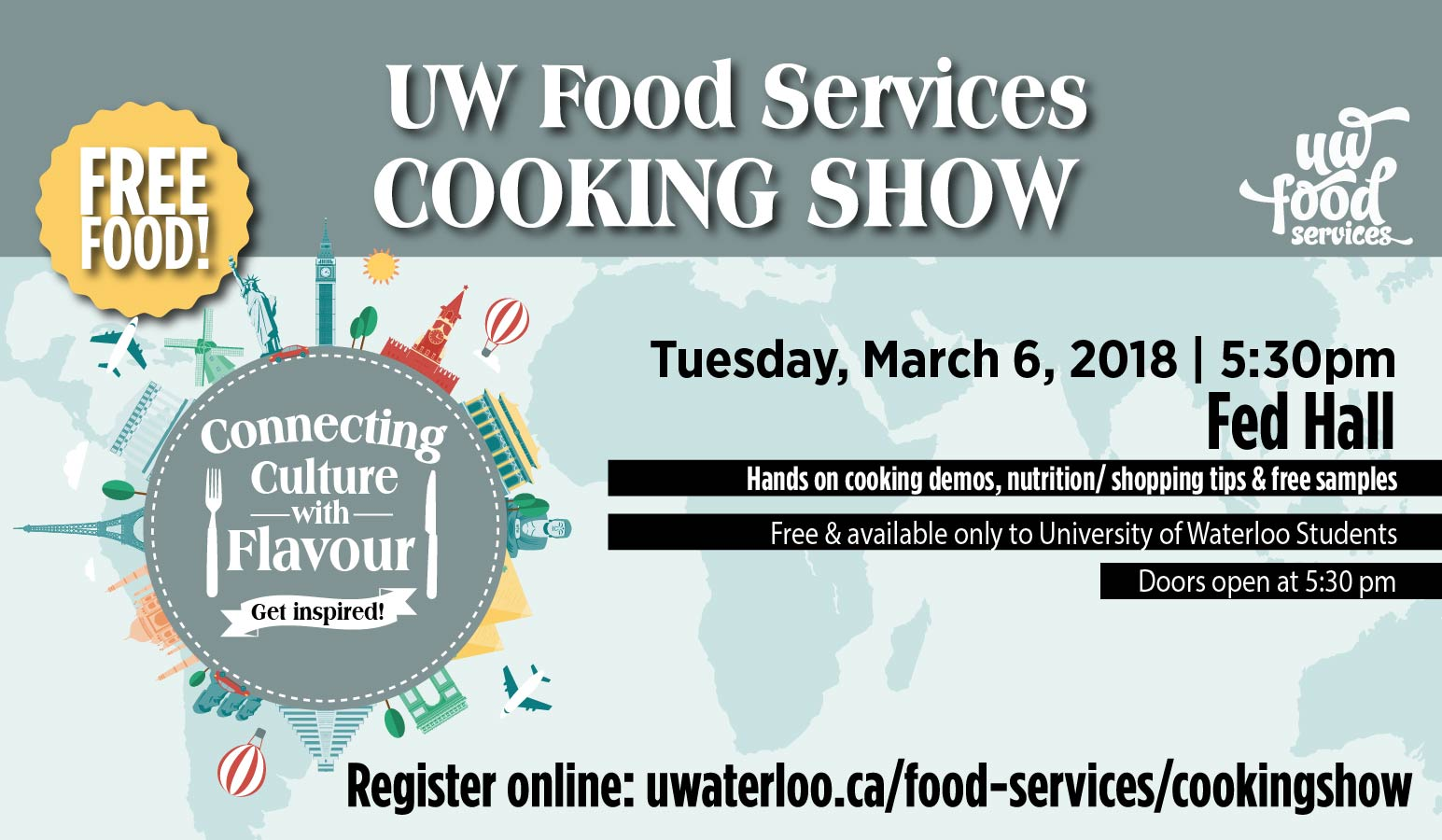 UW Food Services Cooking Show - Connecting culture with flavour